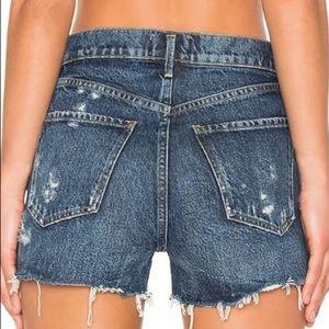 NWT AGOLDE jaden high rise cut off shorts 31
